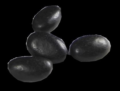 Schwarze Lakritzperlen