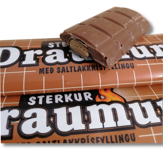 Draumur Salmiak - Isländischer Schokoriegel